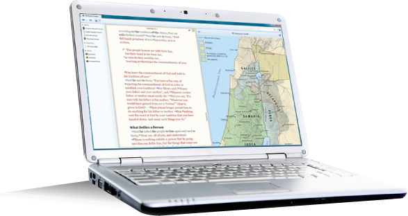 BibleReader for Windows displaying maps content full screen
