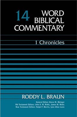 Word Biblical Commentary: Volume 14: 1 Chronicles  (WBC)