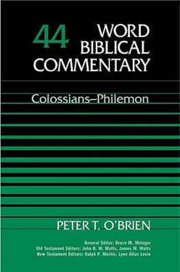 Word Biblical Commentary: Volume 44: Colossians, Philemon (WBC)